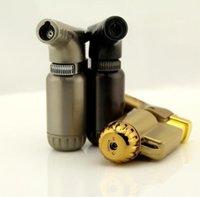 최신 미니 토치 제트 라이터 windproof 부탄 시가 담배 재충전 가능한 마이크로 라이터 BBQ 흡연 주방 도구에 대한 가스 3 색