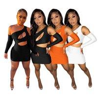 womens dresses one piece set sexy hollow out mini dress high quality elegant club wear women summer clothes S-XXL
