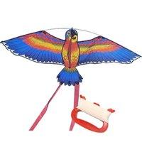 1.1m águia plana com 30 metros de linha crianças voando pássaros pássaros windsock outdoor jardim pano brinquedos para crianças presente