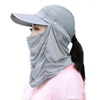 Bisiklet Kapaklar Maskeleri Kap Bandana Erkekler Kadınlar Anti-UV Visor Açık Nefes Ve Hızlı Kurutma Katlanır Portable1