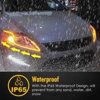 CEYES سيارة التصميم DRL LED النهار تشغيل أضواء الملحقات مرنة دليل الفرامل دليل شرائط المصباح السيارات يوم الوقت المتدفقة مصابيح