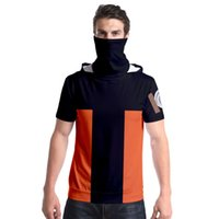T Shirt Naruto rolü kapaklı, kısa kollu ve başörtüsü