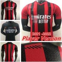 Новый проигрыватель версии 20 21 AC Milan Soccer Jersey 2020 2021 футбольная футболка Ибрагимович беннасер ребрика CamiSeta de Futbol Romagnoli Jersey