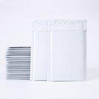 10 Größe Poly Bubble Mailer Gepolsterte Umschläge, weiße Blase gesäumte Wrap Poly Bubble Bags für Versand / Verpackung / Mailing Selbstdichtung
