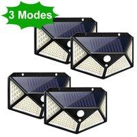 3 Modlar LED Güneş Işık Açık Güneş Lambası PIR Hareket Sensörü Duvar Işık Bahçe Dekorasyon Için Su Geçirmez Güneş Işığı Güneş Işığı