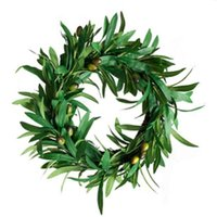 Decorative Flowers & Wreaths Artificial Olives, Wedding Plants, Wall Winding Arrangement, Wreaths, Olive Leaf Rings, Furniture Decoration