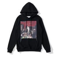 Moda Hip Hop Manzara Yağlıboya Erkek Hoodies Baskılı Hoodie Unisex Kadın Kapşonlu Rahat Harajuku Kazaklar Streetwear
