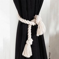 Curtain Buckle Tie Rope Cotton And Linen Hand-Woven Back Fixing Clip Home Decoration Accessories Other Decor