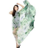 "Lenços 200 cm * 145cm (78 "", 57"") Floral Print Beach Towel Soft Chiffon Scarf para mulher"