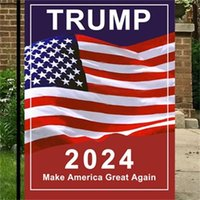 2024 Trump General Election Banner Flags Presidential US Campaign For Garden Flag Make America Great Again Banners 30*45cm LLD11100