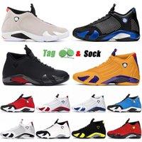 2021 Прибытие Аутентичные кроссовки Баскетбольные туфли 14 14S XIV Пустыня Песок Узвуч Мужские Женщины Университет Золото Черные Красные Тренеры Спорт