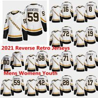 Pittsburgh Penguins 2021 Jerseys de Hóquei Retro Reverse Maxime Legace Phil Kessel Nick Bjugstad Joseph Blandisi Alex Galchenyuk Costume Costume