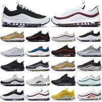 Nike Air Max 97 Высочайшее качество SEAN SW Гибридный мужской Радуга Вик Кейдж Кейдж Мужчины и Женские Обувь Женская Мода Оптовая Насыщенные кроссовки