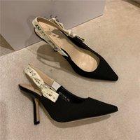 2021 estate nuovi sandali con tacco alto femmina moda joker scarpe da sposa a punta top designer dimensioni 35-42.