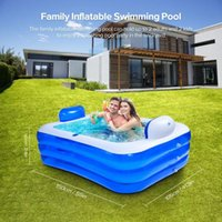 Pool & Accessories 150m Inflatable Double Bathtub Swimming Outdoor Garden Yard Home Use Paddling For Family Kids Adult