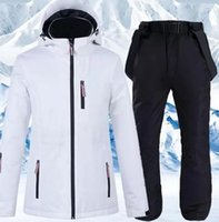 Skiing Suits Ski Suit Men And Women Windproof Waterproof Set Thickened Warm Couple Snowboarding Jacket Pants Two Piece For Women1