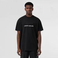 2021 Yaz Yeni Erkek Tasarımcı Lüks T-Shirt Kadın T Gömlek Londra İngiltere Klasik Mektup Baskı Rahat Pamuk Tişört Tee Tops