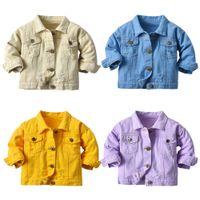 Venta al por mayor INS Bebé Niños Boys Jeans Chaquetas Denim Coat Fashions Primavera Autumn Niños Unisex Girls Outwear Streetwear para 0-10T