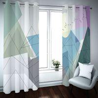 2021 Blackout Fenstervorhang Kreative Abstraktion Vorhang für Wohnzimmer Schlafzimmer Vorhangvorhänge DRAPES Benutzerdefinierte Größe