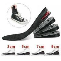 Sapatos Altura Aumentar Palmilhas Elevador de calcanhar 3-9cm Suporte de bolha de ar Inserir almofada mais alta Unisex lavável 4 camada ajustável invisível pvc pads