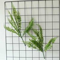 5pc 인공 유칼립투스 잎 녹색 식물 결혼식 꽃꽂이 액세서리 잔디 벽 가짜 식물 정원 장식