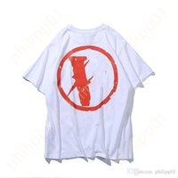 디자이너 큰 큰 반사 v 친구 남자 티셔츠 캐주얼 연기 천사 느슨한 연인 럭셔리 고품질 짧은 소매 vlones tshirt