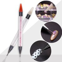 Hand Tools Dual-ended Nail Dotting Pen Crystal Beads Handle Rhinestone Studs Picker Wax Pencil Manicure Nail Art Tool DH5468