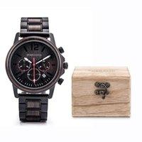 Relógios de pulso Erkek Saatler Dodo Dodo Veado De Madeira Para Homens Impermeável Aço Inoxidável Cronógrafo Luxo Homens Drop Drop