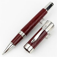 Limited edition Writer Mark Twain Signature Roller ball pen Ballpoint pens Black Blue Wine red Resin engrave office school supplies with Serial Number High quality