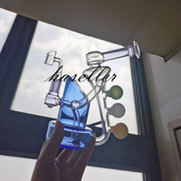 유리 봉사 나선형 perc bubblers 연기 유리 물 파이프 리사이클 오일 rigs 비커 사이클론 퍼콜 레이터 물 담뱃대 18mm 조인트