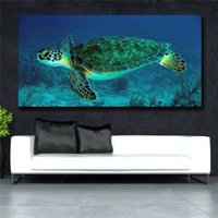 Canvas Wall Art Poster Stampe su tela Sea Turtle View Enorme parete Deco Immagini per Soggiorno Nessuno incorniciato # 136