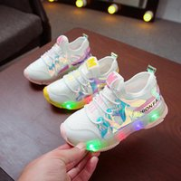 Sneakers 2021 Autumn Kids Led Shoes Mesh Breathable Children's With Light Boys And Girls Lights Chaussure Enfant