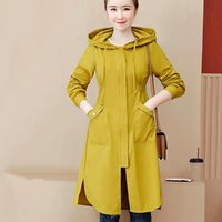 Women's Jackets 2021 Autumn Large Size L-5XL Women Cotton Coat Zipper Big Pocket Jacket Female Thicken Warm Hooded Windbreaker CC1463