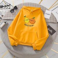Women's Hoodies & Sweatshirts For Women Lemon Korean Streetwear Oversized Hoodie Tracksuit Hodies Velvet Winter Warm Womens Jacket