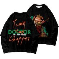 One Piece Tony Tony Chopper T Рубашка негабаритные поддельные две части с длинным рукавом футболка мужская повседневная o шея футболка для человека графики