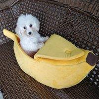 Mascota gato perro sofás cama plátano forma perro casa lindo mascota kennel nido cálido gato dormir camas para dormir popular