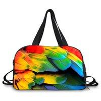 Duffel Bags Bag Travel Colorful Parrot Lizard Cabrite Print For Men Women Valise Sport Gym