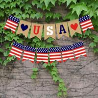 USA Swallowtail Banner Independence Day String Flaggen USA Buchstaben Bunting Banner 4. Juli Party Dekoration Freies Verschiffen SN2350