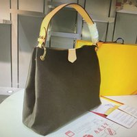 Büyük kapasiteli el çantasıSM43704 M43703 zarif çanta mm pm asla mono deri moda klasik kadın omuz çantası lüks kadın tek el