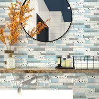 Art3D 30x30 cm 3D Wandaufkleber Selbstklebende Wasserdicht Stein Design Schale und Stock Backplash Fliese für Küche Badezimmer Waschküche, Wallpapers (10 Stück)