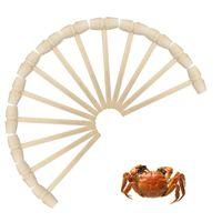 Krabbe Meeresfrüchte Hammer Schlag Fleisch Kuchen Nahrungsmittel Muschel ELM Löffel Solide Mini Kleine Holzschaufel Küchenwerkzeuge Kinder Spielzeug OWD8447