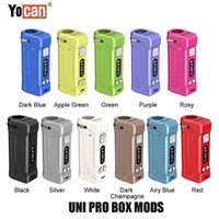 Yeni 11 Renkler Otantik Yocan Uni Pro S Box Mod 650 mAh Preheat VV Vape Batarya Tüm 510 Konu Arabaları Kartuş 100% Orijinal Toptan