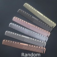 Durable Space Aluminum Hairdressing Cut Comb Bath Anti Stati...