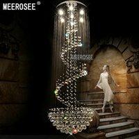 الثريا الإضاءة الحديثة طويلة الحجم 3 متر مصباح السقف الكريستال بريقا دي كريستال لوبى درج الدرج البهو الإضاءة الداخلية