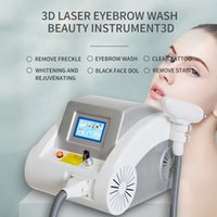 Q Switched nd yag Laser Tattoo-Entfernungsmaschine für Kohlenstoffpeeling und Pigmentierung Augenbraue Pigment Faltenabbau Schwarze Puppe