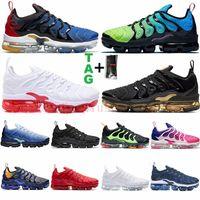 2021 Max TN artı buhar koşu ayakkabıları tns açık erkek eğitmenler Üçlü Siyah Beyaz Zeytin Erkek Kadın Spor Ayakkabı Boyutu 13 Eur 36-47
