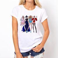 보그 레이디 프린트 o 목 티셔츠 여름 패션 뜨거운 판매 새로운 여성 티셔츠 재미 있은 티셔츠 하라주쿠 짧은 소매 캐주얼 티셔츠 lovrly tops