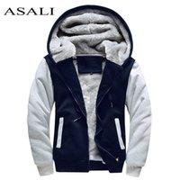 Асали бомбардировщик куртка мужчины новый бренд зимний густой теплый флисовый молния пальто для мужской спортивной одежды трексуит мужские европейские толстовки 201020
