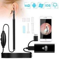 Massaggiatori elettrici Endoscopio dell'orecchio Wireless WiFi wireless 5.5mm Video HD 720p Sicurezza Telecamera impermeabile Android Otoscopi Endoscopia e finestre