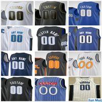 Пользовательские напечатанные 50 Cole Anthony Nikola 9 Vucevic Aaron 00 Gordon Jonathan 1 ISAAC 10 мужчин для мужчин Детские дети Orlando Magic Basketball майки